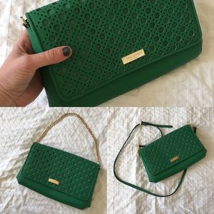 Kate spade green crossbody, clutch, or handbag